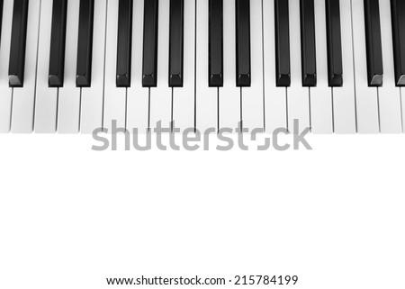 Piano keyboard close-up background - stock photo