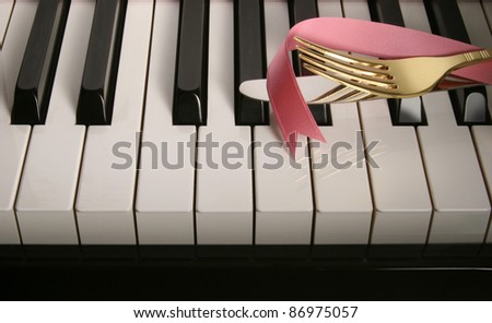 Piano Keys. - stock photo