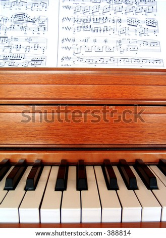 piano keys and music