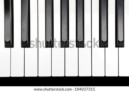 Piano keys close up. - stock photo