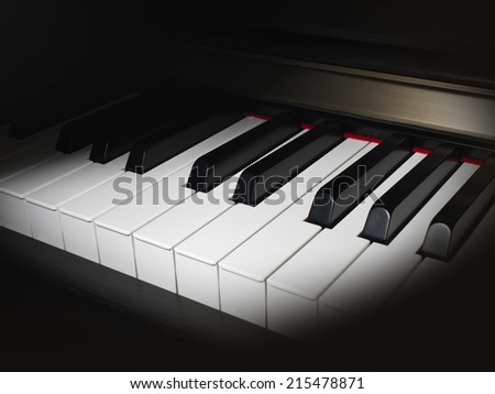 Piano Keys Close up - stock photo