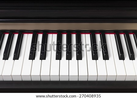 Piano Keys Close up - stock photo