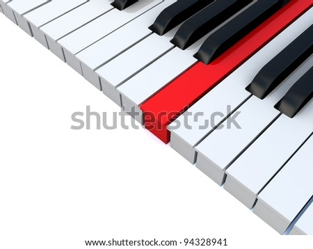 Piano keys. Concept of unique. - stock photo
