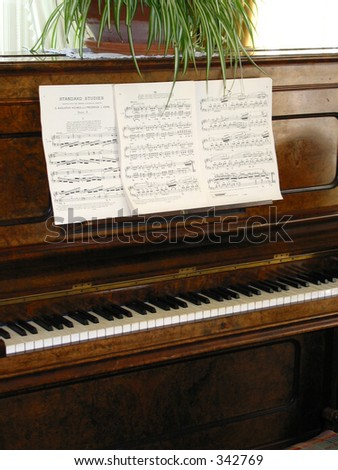 Piano Lessons - stock photo