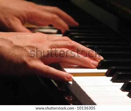 Piano Man - stock photo