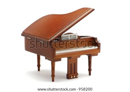 Piano model isolated on white - stock photo