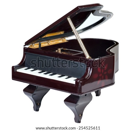piano music box isolated on white background - stock photo