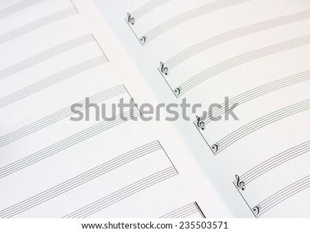 piano musical staff - stock photo