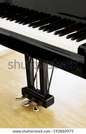 Piano pedals - stock photo