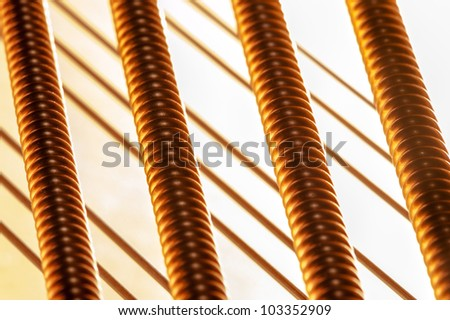 Piano String Macro - stock photo