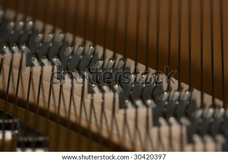 piano strings stock photo. Black Bedroom Furniture Sets. Home Design Ideas
