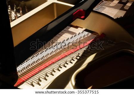 piano tuning  - stock photo
