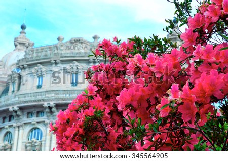 Piazza de Ferrari, Genoa, Italy - stock photo