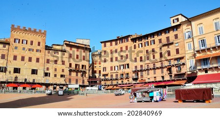 piazza del campo Siena, Tuscany, Italy  - stock photo