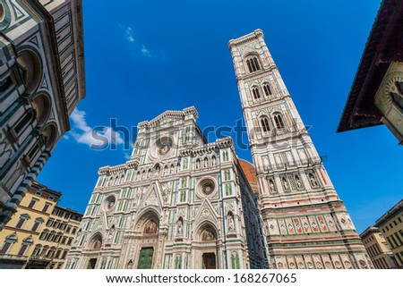 Piazza del Duomo in Florence Italy
