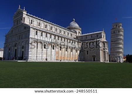 Piazza del Duomo, Pisa - stock photo