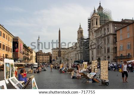 Piazza Navona - stock photo
