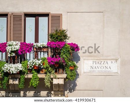Piazza Navona,Rome,Italy - stock photo