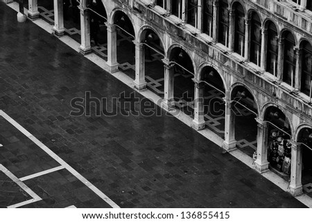 Piazza San Marco Above - stock photo