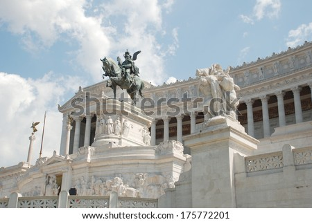 Piazza Venezia Rome, Italy. Capitoline - stock photo