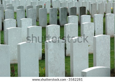 Picardie (Northern France), Australian Cemetery of the First World War. - stock photo