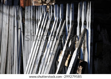 Picket Fence - stock photo