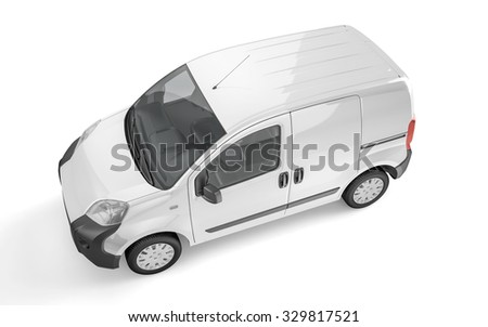 Pickup car on white background mock up. Easy ad some creative design or logo on this blank space. 3D Illustration