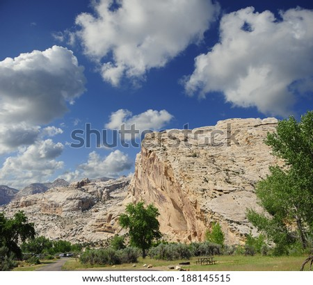 Picnic area at Dinosaur National Monument, Vernal, Utah.