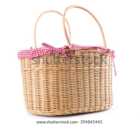Picnic basket container bakery food for summer activity. - stock photo