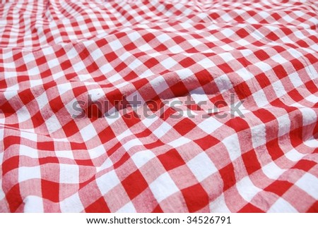 picnic cloth - stock photo