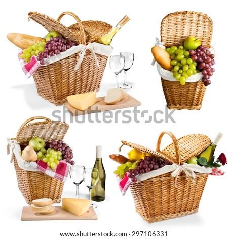 Picnic, Picnic Basket, Basket. - stock photo