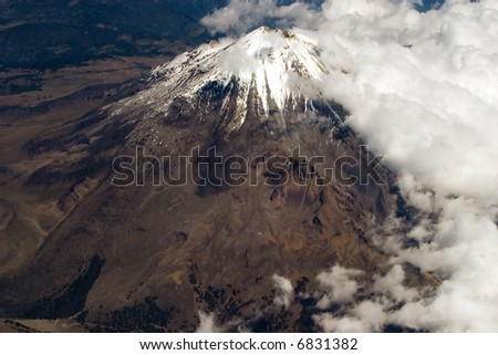 Pico de Orizaba,Mexico's highest peak - stock photo