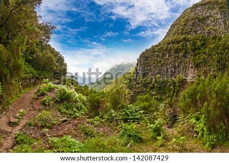 Pico do Arieiro, the third highest mountain of Madeira, Portugal - stock photo
