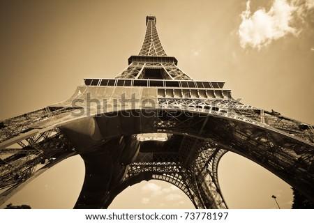 pics of paris - stock photo