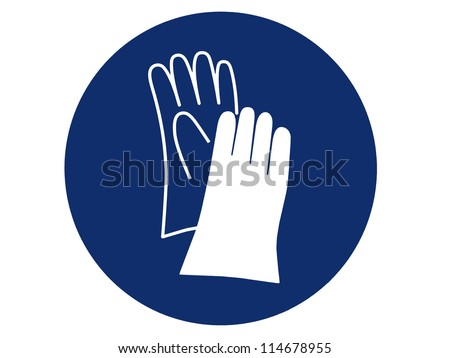 pictogram of hand protection - stock photo