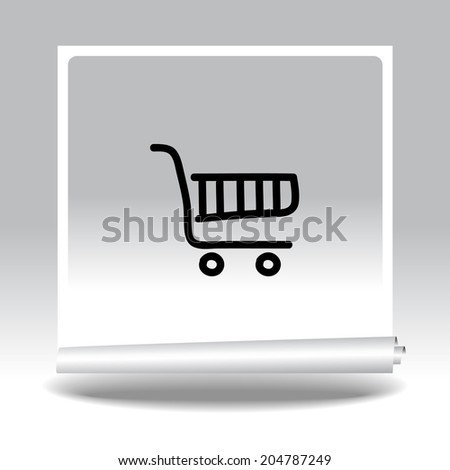 Pictograph of shopping chart - stock photo