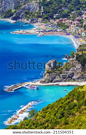 pictorial coast of Italy, Liguria, Monterosso al mare - stock photo