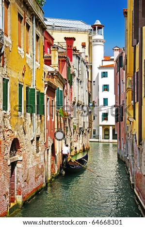 pictorial streets of romantic Venice