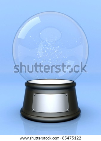 Picture a beautiful, glass ball on a colored background - stock photo