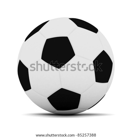 Picture a soccer ball on white background