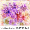 Picture, abstract flowers. Hand draw water colour on a paper - stock photo