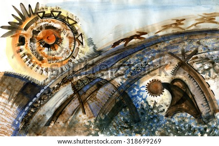picture abstract painting background - stock photo