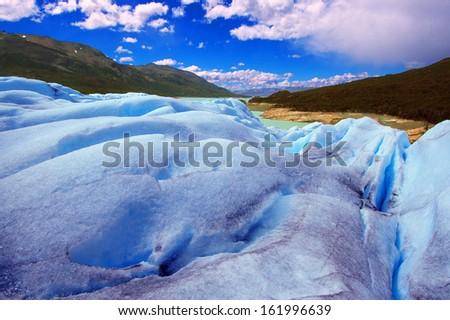 Picture captured in Perito Moreno Glacier in Patagonia (Argentina)  - stock photo