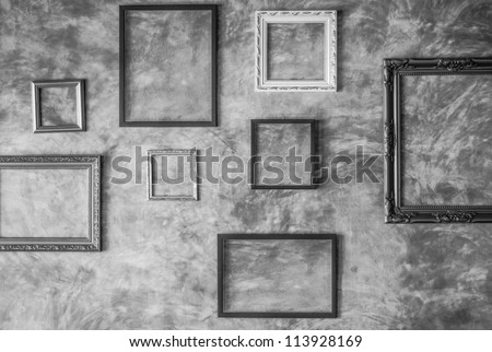 Picture frame. - stock photo