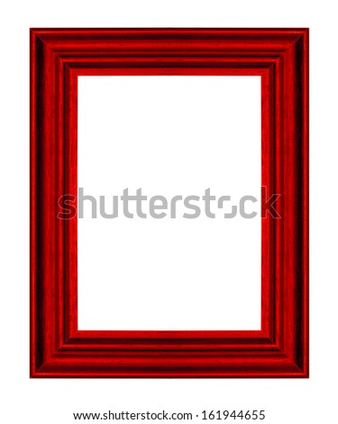 picture frame ancient vintage isolated on white background. - stock photo