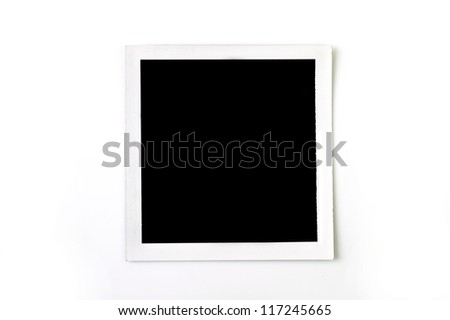 picture frame instant pack film - stock photo