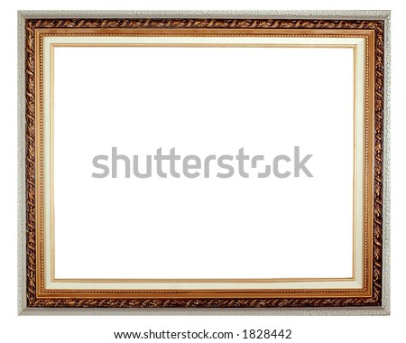 Picture frame - isolated - stock photo