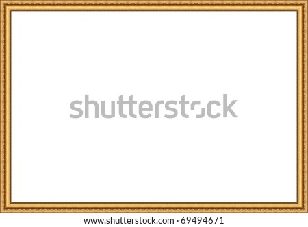 Picture frame isolated - stock photo