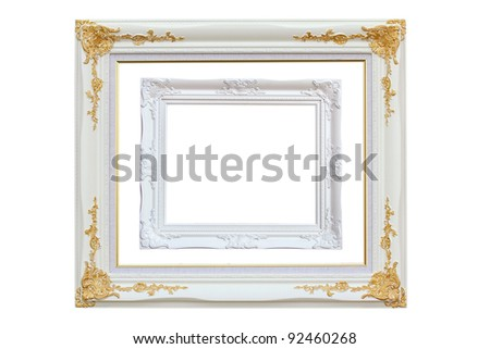 picture frame, isolated - stock photo