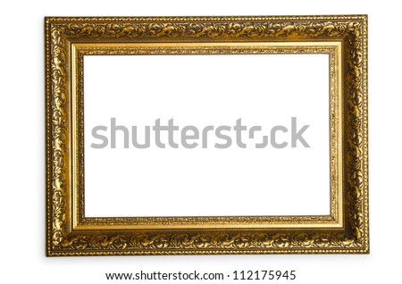 Picture frame isolated on the white - stock photo
